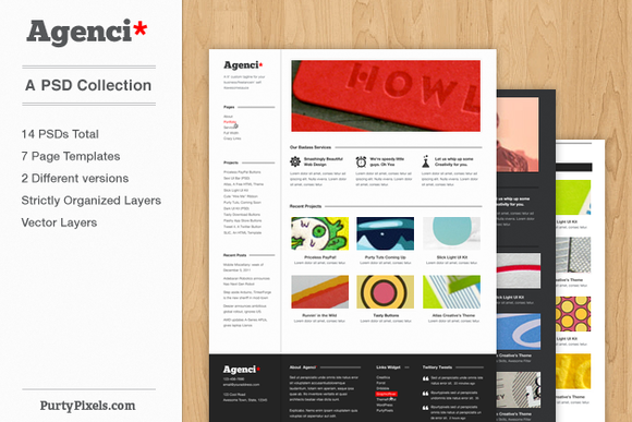 Agenci Business Agenci PSD Template Collection