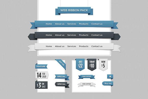 Web Ribbon Pack