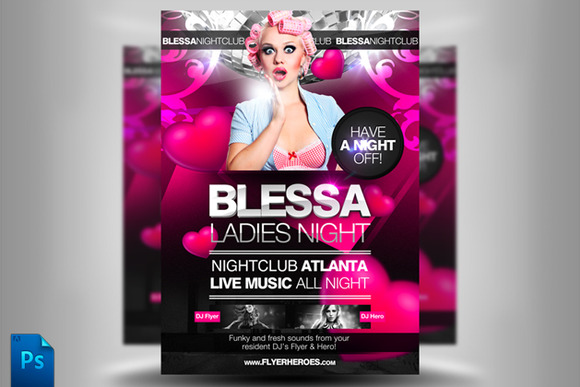 Blessa Ladies Night Flyer Template