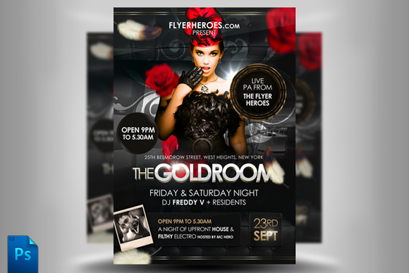 The Goldroom Flyer Template