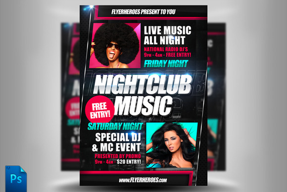 Nightclub Music Flyer Template
