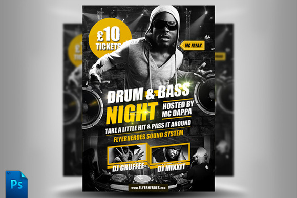 Drum And Bass Flyer Template