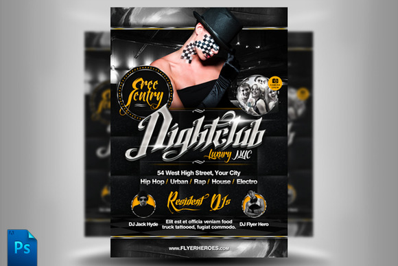 Chrome Nightclub Flyer Template