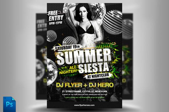 Summer Siesta Flyer Template