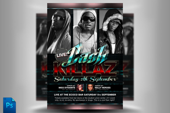 Cash Killaz Flyer Template
