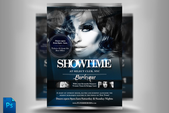 Showtime Flyer Template