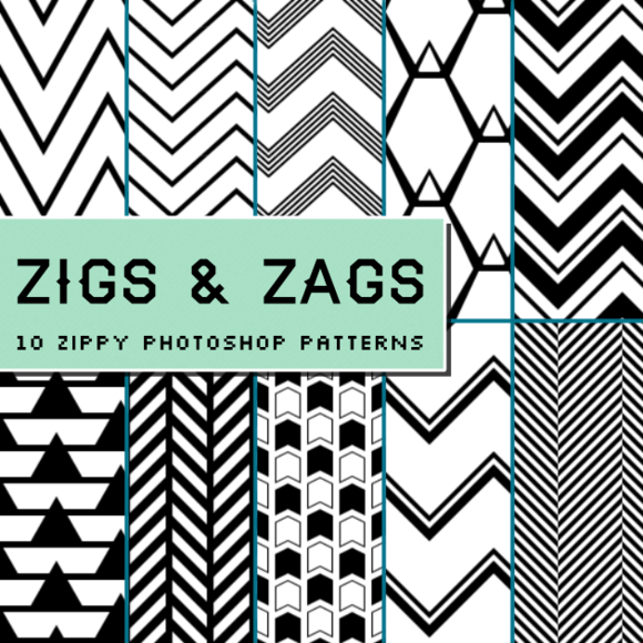 Zigs And Zags Photoshop Patterns