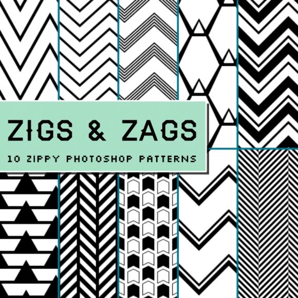 Zigs And Zags Photoshop Patterns
