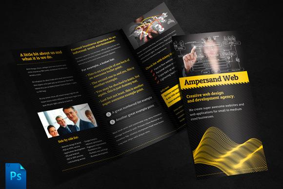 Ampersand Tri Fold Brochure Template