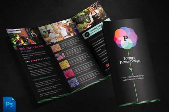 Flower Shop Brochure Template