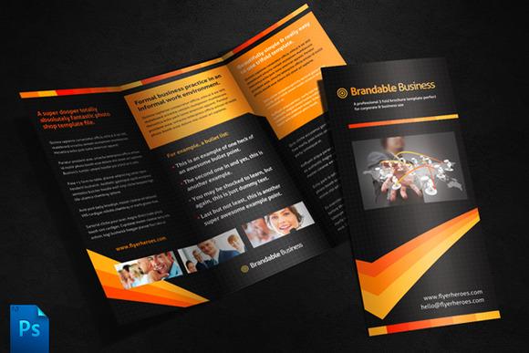 Business Tri Fold Brochure Template
