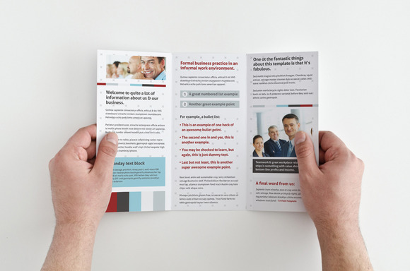 The Salesman Brochure Template