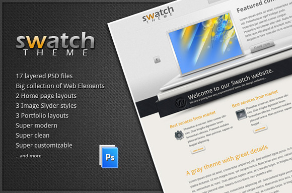 Swatch PSD Template