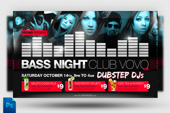 Bass Night Flyer Template