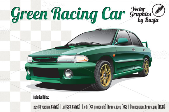 Green Racing Car