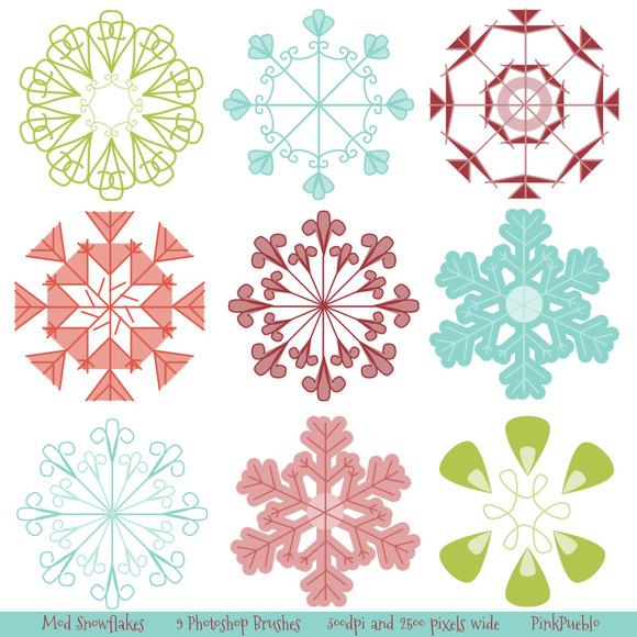Snowflakes Photoshop Brushes