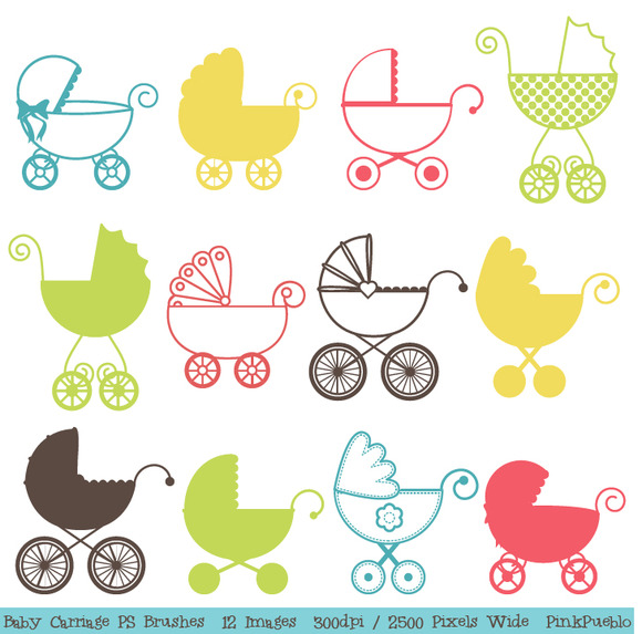 Baby Carriage Photoshop Brushes