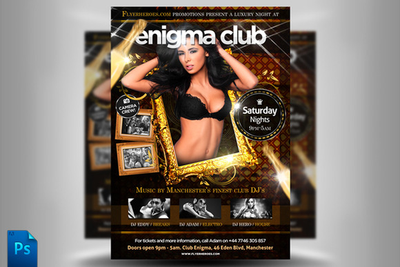 Enigma Flyer Template