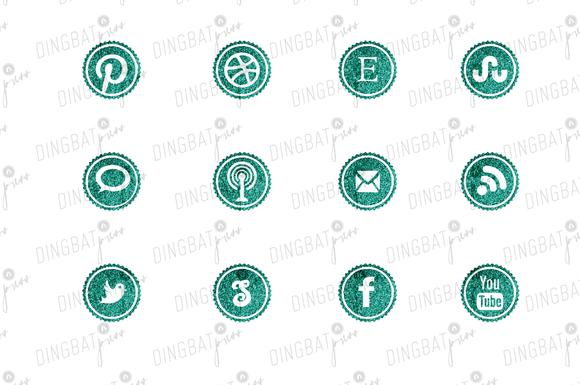 Glitter Seal Social Media Icons