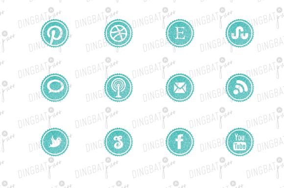 POOL Glitter Social Media Icons