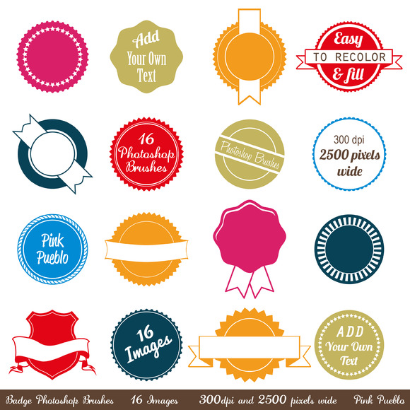 Badges Photoshop Brushes