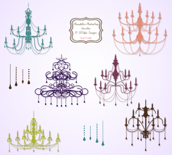Chandelier Photoshop Brushes