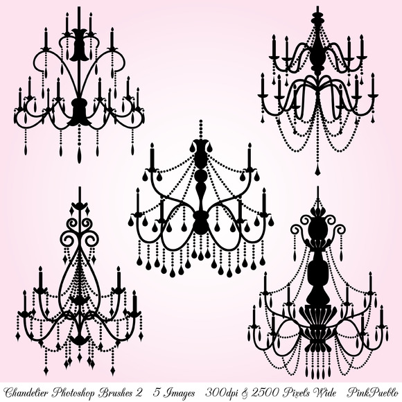 Chandelier Photoshop Brushes 2