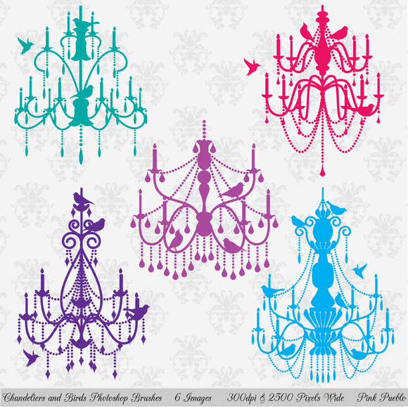 Chandeliers Birds PS Brushes