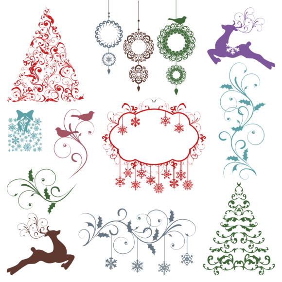 Christmas Silhouettes PS Brushes