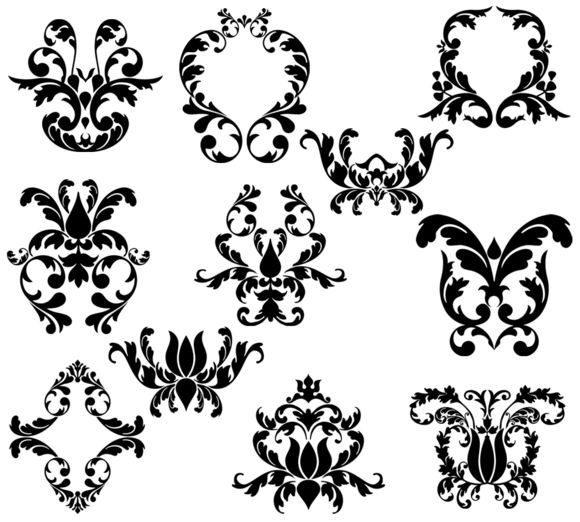 Damask Elements Photoshop Brushes