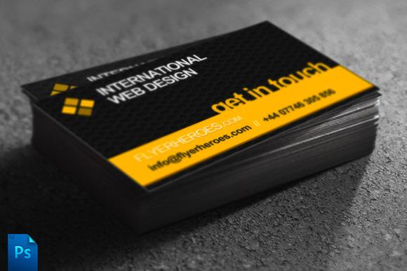 Business Card Template Web Designer