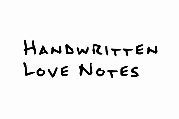 Handwritten Love Notes