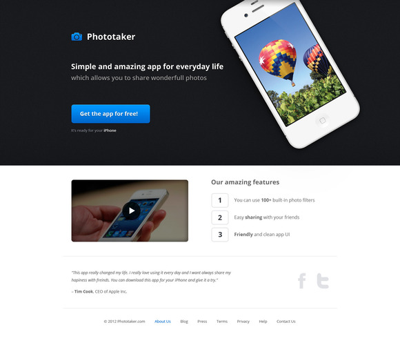 Product Page Template For IOS App 2