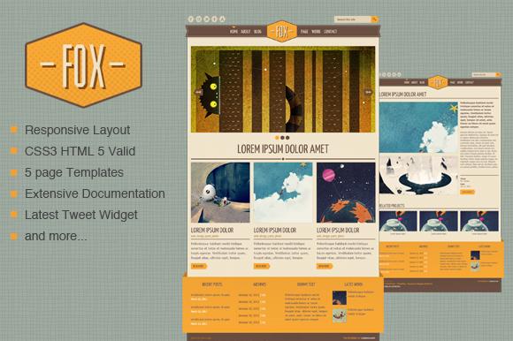 Fox HTML Template