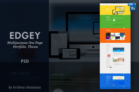 EDGY Multipurpose One Page PSD