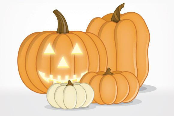 Jack-O-Lantern Pumpkin Faces Vectors