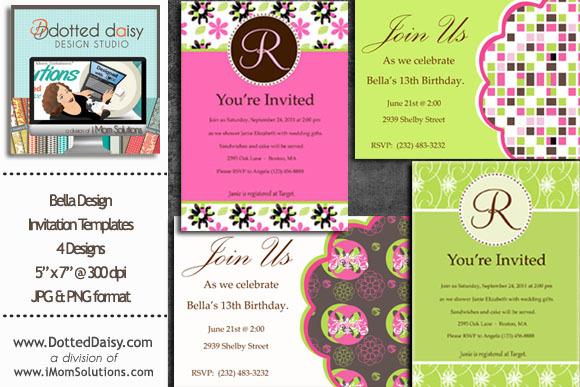 Bella Invitation Templates