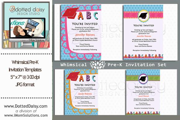 Whimsical Pre-K Invitations