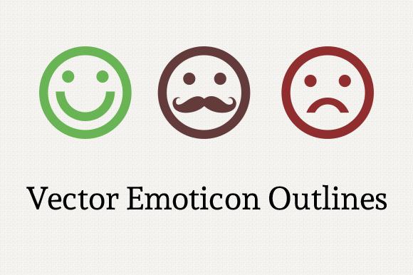 Vector Emoticon Outlines