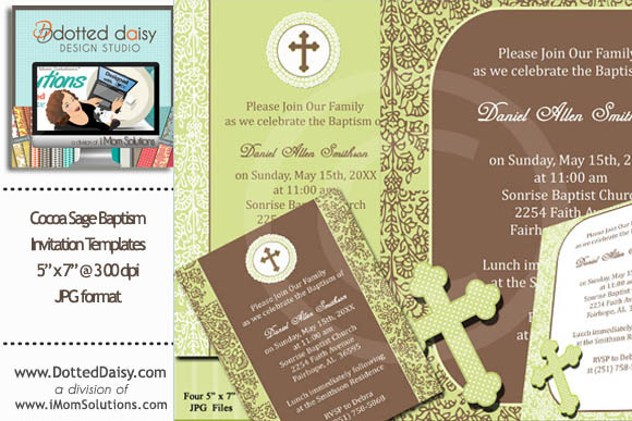 Cocoa Sage Baptism Templates