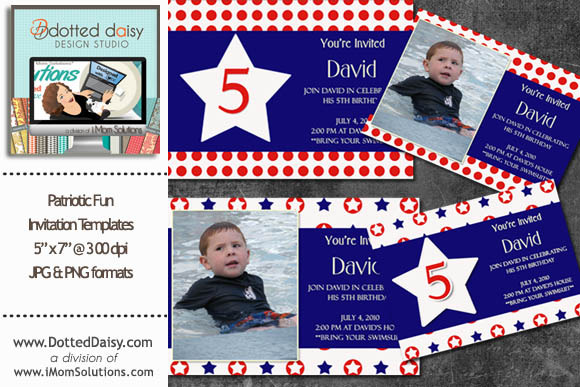 Patriotic Fun Invitation Templates