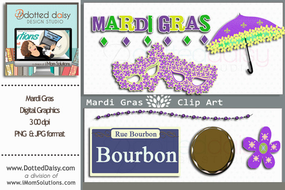 Mardi Gras Digital Graphics