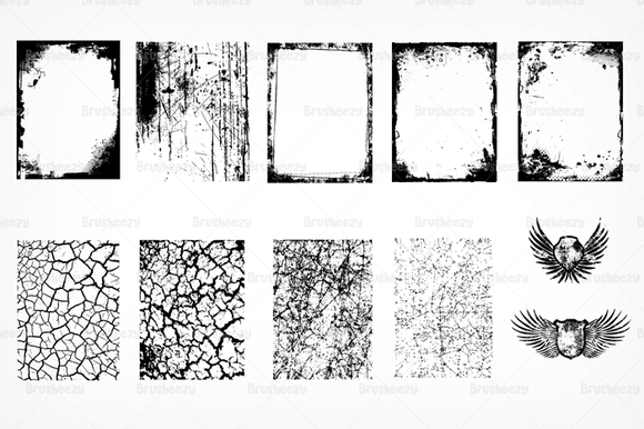 Cracked Texture And Wings Brushes