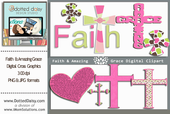 Faith Amazing Grace Cross Graphics