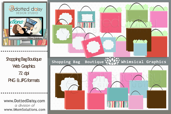 Shopping Bag Boutique Web Elements