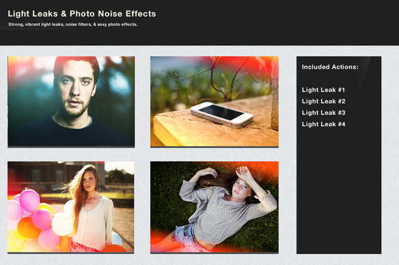Light Leaks Photo Noise Effects