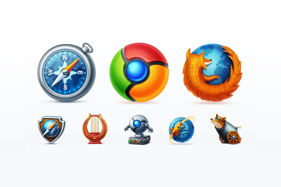 Web Browsers Icon Set