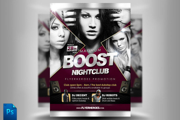 Maximum Boost Club Flyer Template