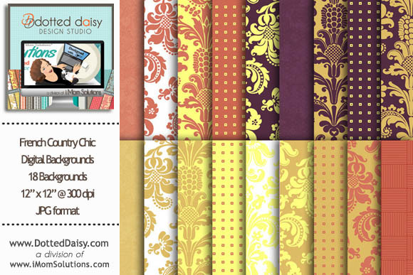 French Country Digital Backgrounds