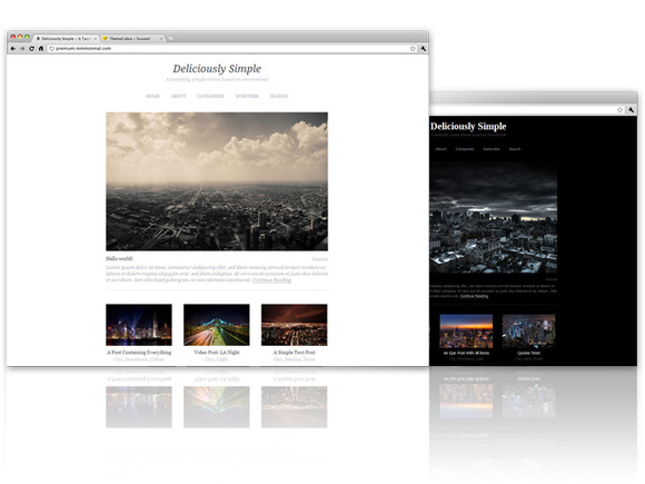Deliciously Simple WordPress Theme